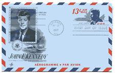 UC39  13c John F Kennedy air letter, ArtCraft, FDC