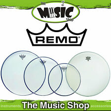 "Remo Pro Head Pack - Emperor Clear Skins 10"", 12"", 14"" + 14"" Ambass PP-0240-BE"