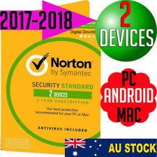 Norton Security 2 User V3 Apple/Windows Mac Anti-virus 2017 2018 PC Multi Device