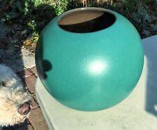 Vintage Scheurich German Art Pottery Decorator ORB or SPHERE Vase In Teal Green