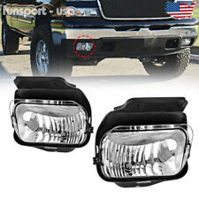 for 03-06 Chevy Silverado Avalanche 1500/2500 Clear Bumper Fog Lights Lamps PAIR