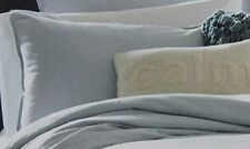 Kenneth Cole Reaction King Pillow Sham, Mineral in Stoney Blue Linen/Cotton, New
