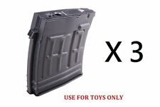 CYMA 120rd Toy SVD Hi-Cap Mag for Airsoft AEG Real Sword (RS) and S&T (C.95) x 3