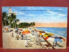 Postcard FL Miami Beach Whitman Hotel & Bathing Beach