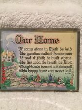 "Vintage. ""Welcome To Our Home"". Wall Plaque."