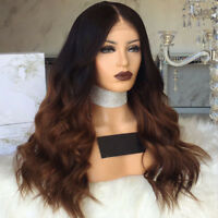 Ombre #1B/30 Brazilian Wave Full Lace Wig Front Lace Human Hair Wigs Body Wavy