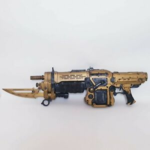 Gears of War 3 Limited Edition Gold Lancer Assault Rifle Shooting Sound 1m High