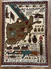 Hand Made Afghanistan Afghan War Rug-Real Deal! Us Vet Bring-Back! Not Fake!