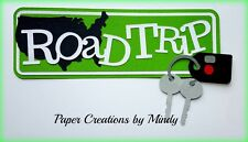 Craftecafe Mindy Road Trip Travel Vacation title premade paper piecing scrapbook