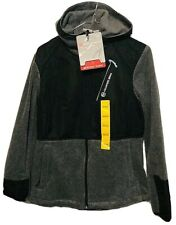 Free Country Micro Tech Fleece Black & Gray Zip Up Jacket Medium New With Tags