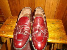 Sebago Mens Leather Slip on Dress Shoes Size 10 1/2 M Brown Tassels