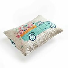 Spring Truck Sham - Floral Pillowcase Cover with Vintage Country Print
