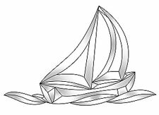 Stained Glass Supplies Sailboat Bevel Cluster Ec812