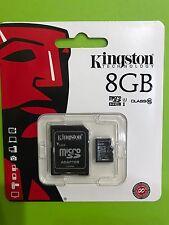 MICRO SD 8GB CLASS 10 CON ADATTATORE KINGSTON
