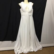 Vintage Wedding Prom Dance White Dress Sexy Plunge Evening Gown Cocktail