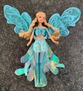 Rare Barbie Fairytopia Wonder Fairy Joybelle Blue Wings Doll Rooted Lashes 2004