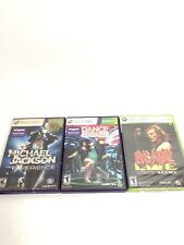 Lot Of 3 Xbox 360 Games Dance Central Music Harmonix MJ Experience AC/DC Live