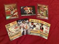 PATRICK MAHOMES II 7X 2019-20 #1, #14 DONRUSS ELITE FB LOT + 5 CUSTOM CARDS BIN!