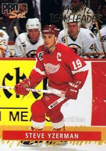 1992-93 Pro Set Gold Team Leaders #3 Steve Yzerman