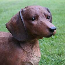 Dekofigur Dackel Hund Gartenfigur Türdeko Tierfigur Skulptur Hunde Figuren braun