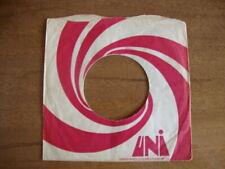 UNI  ORIGINAL USED COMPANY RECORD SLEEVE 45RPM 7 INCH  VG
