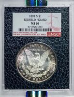 1891-S Morgan NGC MS61 *Redfield Hoard* Silver Dollar