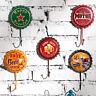 Retro Metal Bottle Cap Hook Tin Poster Wall Sign Plaques Club Bar Coffee Decor