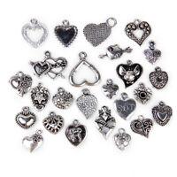 40pcs tibetan silver tone love God heart shaped charms EF1787