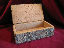 VINAGE PRIMITIVE CORK BARK BOX