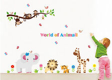 New Jungle Animal Wall decal Vinyl Removable stickers Decor Kids Nursery art 02