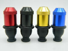 1Pc Metal Random Color Rubber Nipple Snuff Shape Sniffer Mini Smoking Pipe