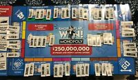 49 single Monopoly Tickets Pieces 2020 Albertson Safeway Jewel Shaw no doubles!!