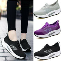 Women's Casual Sports Shoes Slip On Outdoor  Thick Sole Walking Running Trainers
