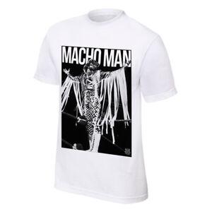 Macho Man Randy Savage Definitive Superstar WWE Mens White T-shirt