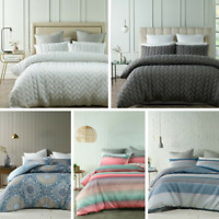 QUILTED Quilt Duvet Cover Set Super Soft Luxury | Queen King Size | 5 Design