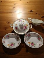Hammersley Bone China Made In England Covered Vegetable Oval Bowls Gravy Boat