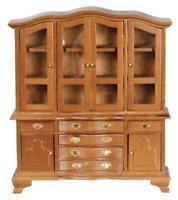 Dolls House Large Walnut Dresser Cabinet Miniature Dining Room Furniture