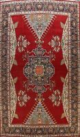 12x16 Vintage Geometric Tebriz Area Rug Wool Oriental Palace Size Hand-knotted