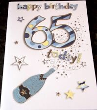 65th Birthday Card by Eclipse Cards. Champagne Theme.
