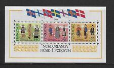 1983 Faroe Islands: National Costume Minisheet Sg Ms89 Unmounted Mint (Mnh)