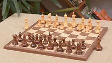 Schachspiel – Staunton gezäumte Ritter Holz Schachfiguren + Brett – chessbazaar