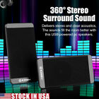 2x Mini USB Power Wired Computer Speakers Stereo 3.5mm for Desktop PC Laptop US