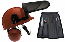 Chainsaw Safety Helmet & File Saw Chain Sharpening Kit Suit HUSQVARNA users