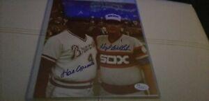 Hank Aaron and Hoyt Wilhelm Autographed Signed Photo 8x10 Jsa HOF