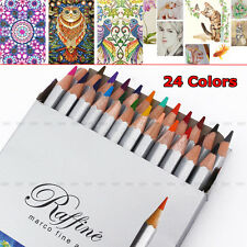 Fine Art 24 Colors Marco Drawing Oil Base Non-toxic Pencils Set Artist Sketch