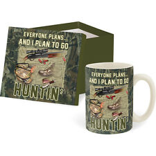 I Plan to go HUNTIN' Boxed Coffee Tea Cup Mug Large 14 oz Hunting