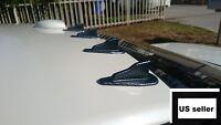 10x Shark Fin Black Carbon Fiber Universal Air Diffuser Spoiler Roof Wing Trunk