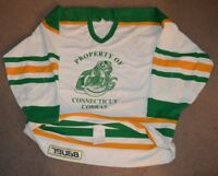 Connecticut Cobras Authentic Hockey Jersey Sz 54 Fight Strap Bauer