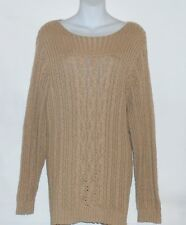 Jones New York Sport Woman Plus Size Scoop Neck Pullover Sweater Cashew 3X NWT