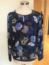 Bianca Top Size 10 BNWT Navy Blue Off White Floral RRP £74.95 Now £33